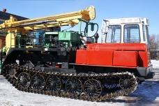 Буровая установка ПБУ-2 на базе трактора ТСН-4